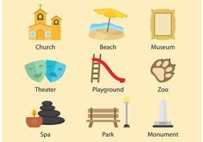 Vecteurs de loisirs et de tourisme vecteur