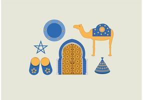 Paquet de vecteur marocain