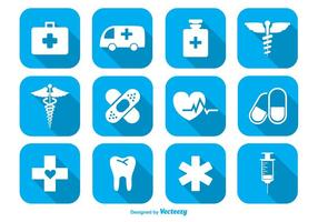 Ensemble d'icônes médicales vecteur