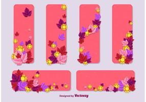 Modèles de cartes vectorielles été - printemps