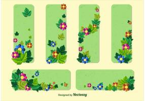 Modèles vectoriels floraux floraux de printemps vecteur