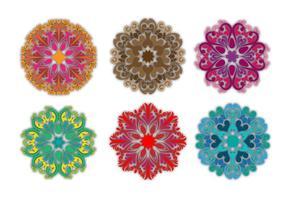 Formes vectorielles ornementales florales vecteur