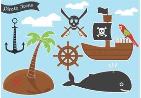 Icônes de vecteur de pirate