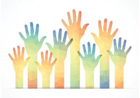 Vector de mains libres polygonal gratuites