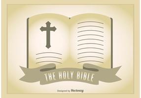 Illustration de la Bible ouverte vecteur