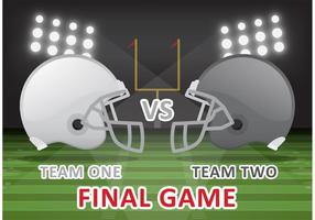 Football Final Game Vector