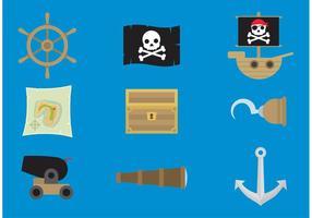 Icônes de vecteur pirate
