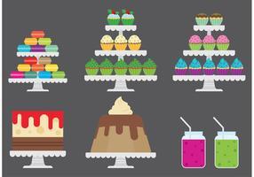 Cupcake Stand Vectors