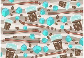 Forme libre de vecteur de café glacé