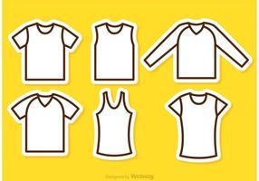 Vecteurs d'icônes de contour de maillot de sport