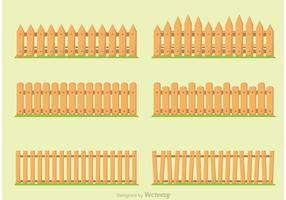 Clôture de piquet dans les vecteurs d'herbe vecteur