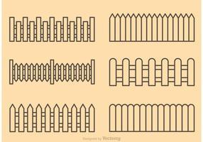 Vecteurs de contour de clôtures vecteur