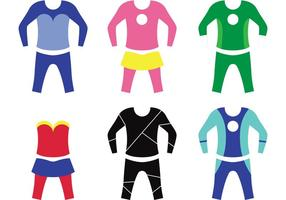 Superhero Kid Costume Vectors