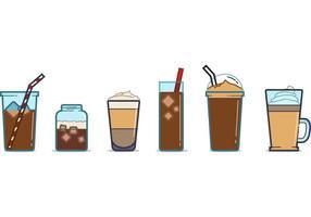 Vecteurs gratuits de tasses de café glacé vecteur