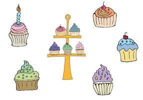 Vecteur de stand de cupcake gratuit
