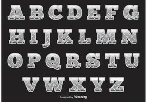 Alphabet Diamond Plate vecteur