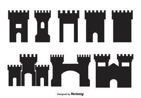 Formes de la forteresse vectorielle vecteur