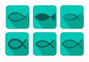 Vecteurs de symboles de poissons chrétiens