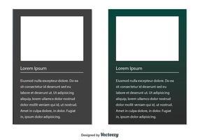 Boîtes de texte vectoriel