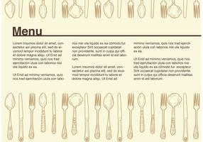 Exemple de vecteur de menu vintage