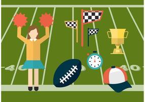 Icônes vectorielles de sport et de cheerleading