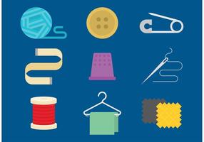 Couture des icônes vectorielles