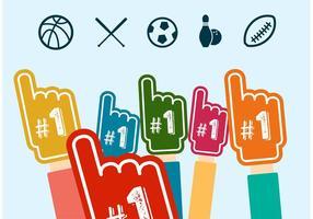 Icônes de vecteur de fan de sport