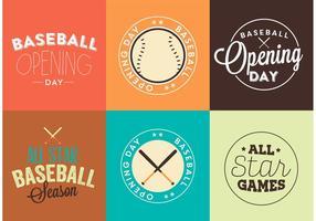 Ensemble vectoriel de logo d'ouverture de Baseball Opening