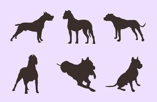Silhouettes de chien vecteur gratuit
