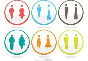 Ensemble vectoriel moderne d'icônes de salle de repos