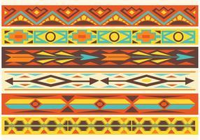 Frontières vectorielles libres de motifs indigènes américains vecteur