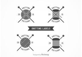 Étiquettes vectorielles à tricoter gratuites