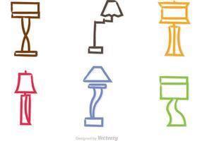 Vecteurs de lustres modernes colorés vecteur