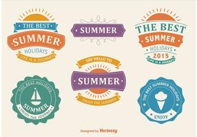 Bienvenue Summer Label Vectors