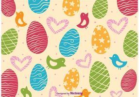 Vecteur de modèle d'amour de Pâques