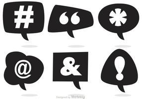 Vecteurs de bulles d'expression des médias sociaux