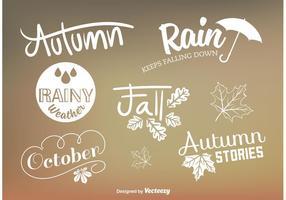 Signes vectoriels personnalisés à l'automne vecteur
