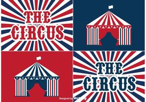 Étiquettes de cirque vecteur