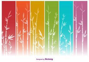 Fonds colorés en bambous Vector