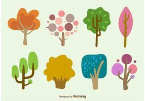 Vecteurs arborescents dessinés à la main