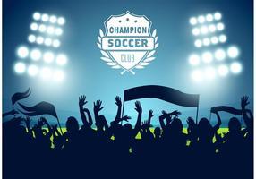 Vecteur d'affiche gratuit de football de football