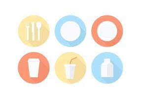 Icônes de vecteur de vaisselle en papier gratuit