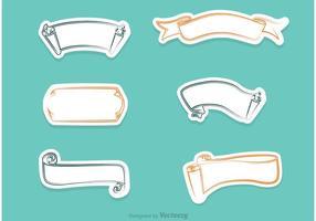 Vecteurs de papier défilés blancs vecteur