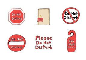 Série de dessins gratuit Ne pas déranger vecteur