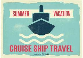 Illustration Vintage Cruise Liner vecteur