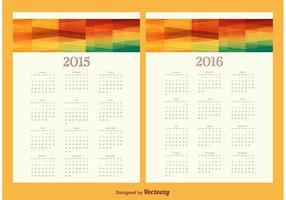 Ensemble de calendrier 2015/2016 vecteur