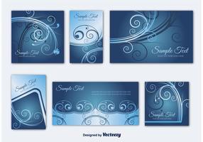 Modèles de cartes d'invitation vecteur