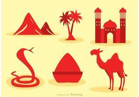 Icônes vectorielles marocaines vecteur