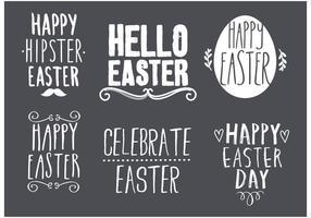 Ensemble de conception de typographie de Pâques