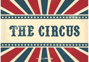 Contexte du cirque vintage